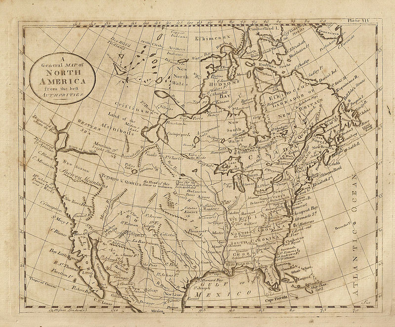 Map of N. America showing California when it was part of New Spain. Map dated 1789 from Dobson's Encyclopedia. Dobson'sMap.jpeg