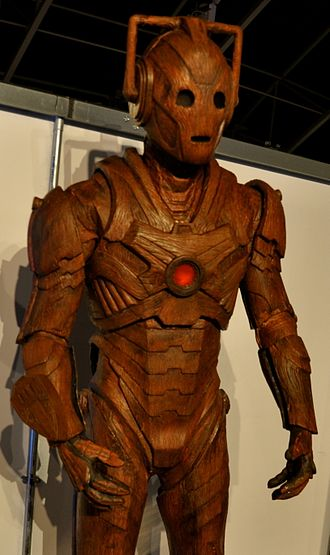 Cyberman - The wooden Cybermen as it appears at the Doctor Who Experience