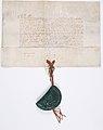 """Don par le Dauphin (futur Charles V) au conseiller du roi Jean d'Auxerre de la """"Maison aux piliers"""" Sise en Grève à Paris"""" - Archives Nationales - AE-II-373.jpg"""
