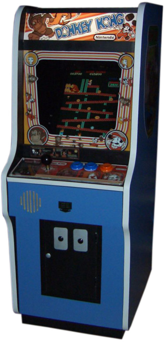 Mario (franchise) - A replica of a Donkey Kong arcade cabinet.