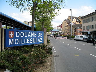 Thônex - Image: Douane de Moillesulaz 2008 04 24