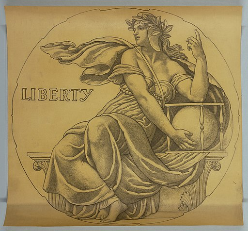 "Drawing, Cartoon for Mosaic- Wisconsin State Capitol, ""Liberty"", 1912 (CH 18427925)"