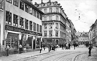 Dronningens Tværgade - Dronningens Tværgade in the 1900s