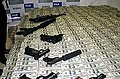Drug Money and weapons seized by the Mexican Police and the DEA 2007.jpg