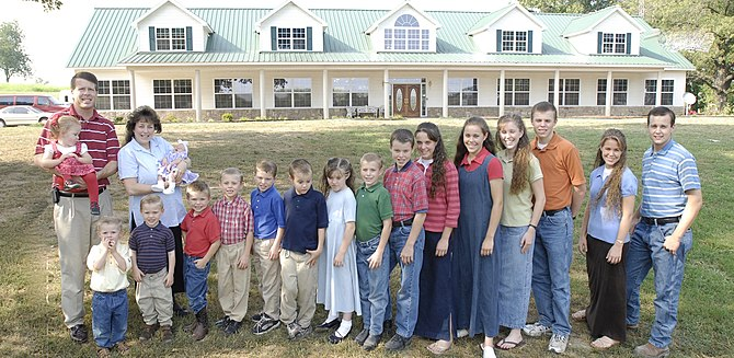 The family of Jim Bob Duggar.