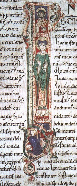 William de St-Calais - William of St Calais from an 11th-century manuscript of St Augustine's Commentary on the Psalter