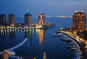The Pearl-Qatar - Dusk in The Pearl