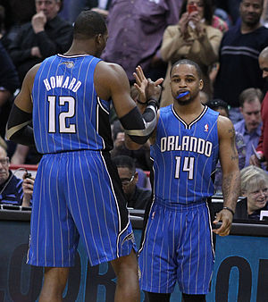 Dwight Howard - Howard with Magic teammate Jameer Nelson