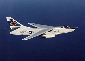 Douglas A-3 Skywarrior - Image: EA 3B VQ 1 in flight South China Sea 1974
