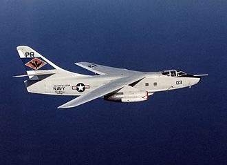 Douglas A-3 Skywarrior - Image: EA 3B VQ 1 in flight South China Sea 1974