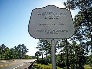 Bert Dosh Memorial Bridge - Image: EB Bert Dosh Bridge Plaque 1