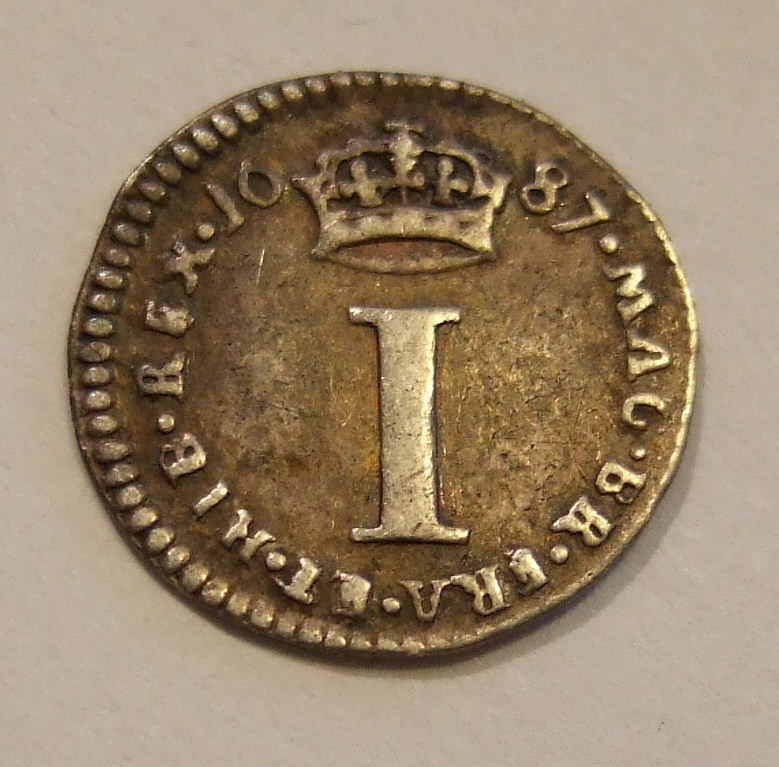 ENGLAND, JAMES II 1687 -MAUNDY MONEY, ONE PENCE a - Flickr - woody1778a