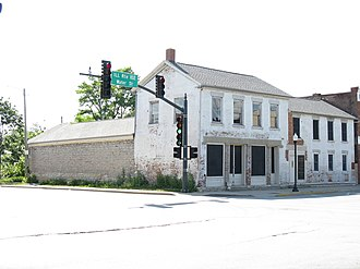 Eagle Hotel (Wilmington, Illinois) - Image: Eagle Hotel 1837 & 8