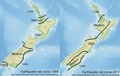 Earthquake risk zones New Zealand.png