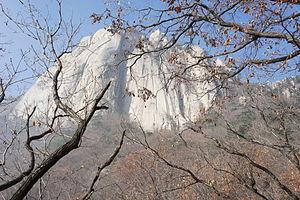 Dobongsan - Image: East face of Seoninbong Peak, Dobongsan