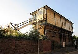 Eastbourne signal box, Junction Road, Eastbourne (NHLE Code 1413815) (June 2015) (3).JPG