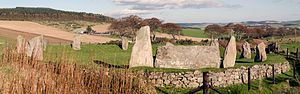 Easter Aquhorthies stone circle - Image: Easter Aquhorthies stone circle wide view