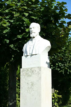 Henri Deutsch de la Meurthe - Image: Ecquevilly Buste d'Henry Deutsch de la Meurthe