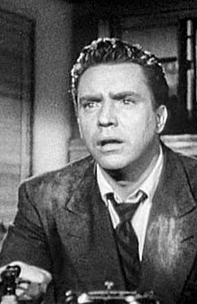 O actor estatounitense Edmond O'Brien en 1950 en a cinta D.O.A..