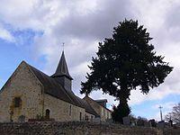 Eglise Saint-Laurent du Vey (Calvados) et if funéraire.jpg