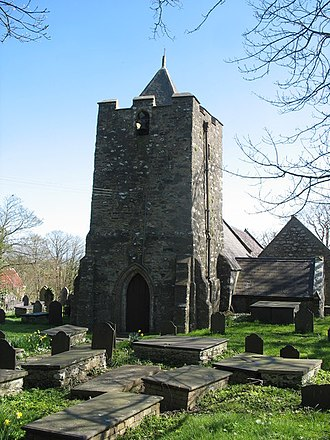 St Mary's Church, Llanfair-yng-Nghornwy - The 17th-century tower
