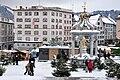 Einsiedeln - Hauptplatz - Marienbrunnen - Kloster 2010-11-29 14-18-14.JPG