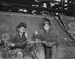 Electric welders at work on the Liberty ship USS Frederick Douglass (1943).jpg