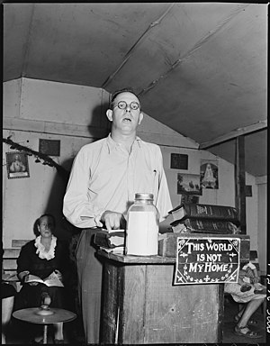 Pentecostal Church of God - The pastor of a PCG church in Harlan County, Kentucky (1946)