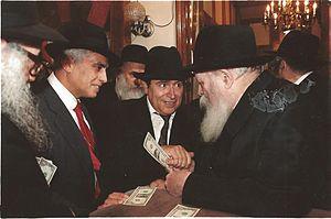 Eliyahu Ben Haim - Rabbi Eliyahu Ben Chaim, Rosh Yeshiva at YU and Av Bet Din in Queens, with The Lubavitcher Rebbe, Rabbi Menachem Mendel Schneerson