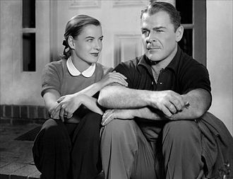 Impact (film) - Ella Raines and Brian Donlevy in Impact