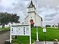 Emigrantkyrkja (Brampton Lutheran Church, North Dakota) Vestnorsk utvandringssenter (Western Norway Emigration Center), informasjonstavle Radøy Hordaland Norway 2017-10-03 b.jpg