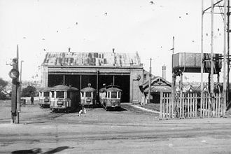 Enfield, New South Wales - Enfield tram depot in the late 1940s