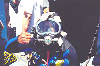 English: An Engineer-Diver with KB Bandmask