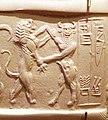 Enkidu on an Akkadian cylinder seal.jpg