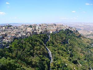 Enna - Panorama of Enna