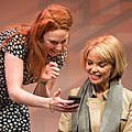 Gabrielle Scawthorn and Danielle Carter on stage at the Ensemble Theatre in New South Wales, Australia