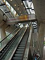 Entrance with escalator to the metro-tube in The Hague, Beatrix-kwartier; high resolution image by FotoDutch, June 2013.jpg