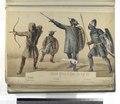 Epoca Gotica Siglos del V al VII. Siervo, tirador de arco; Liberto, armado de helmo y conto; Libertos, armados de todas armas (NYPL b14896507-87342).tiff