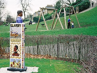 Telegraph Hill, Lewisham - The lower park on Telegraph Hill features a monument to anti-slavery campaigner Olaudah Equiano, created in 2008 by children from the Edmund Waller School.