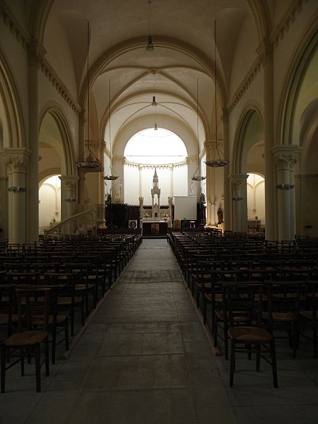 Église Saint-Jean-Baptiste d'Ercée-en-Lamée (35). Nef.