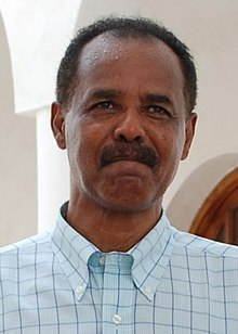 Eritrean President Isaias Afwerki in the Eritrean city of Massawa (cropped).JPG