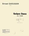 Ernest Chausson - Quelques Danses page titre.png