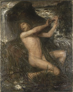 "Neck (water spirit) - Näcken (""The Water Sprite"") by Ernst Josephson, 1884"