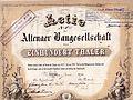 Erste Aktie der Altenaer Baugesellschaft.jpg