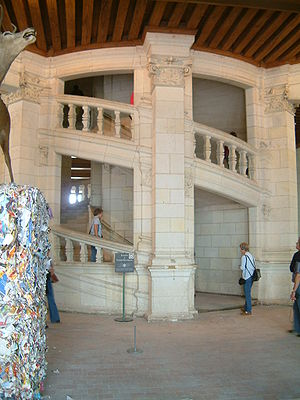 Château de Chambord - The double-spiral staircase
