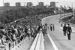 Essingeleden - Opening of Essingeleden 1966