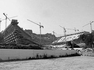 Estádio Municipal de Braga - A view of the construction site in 2003