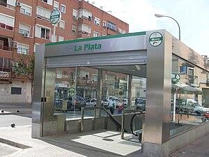 Seville Metro - Entrance to subterranean station