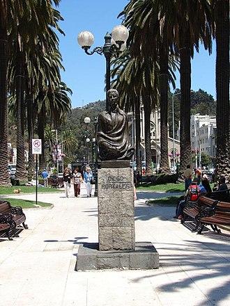 Diego Portales - Image: Estatua Diego Portales Viña