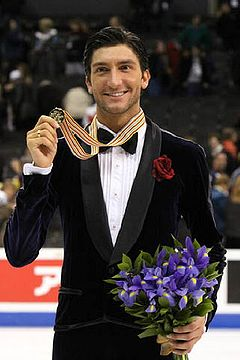 Evan Lysacek Podium 2009 Worlds.jpg
